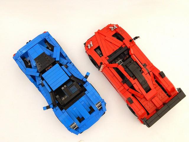 Ford Gt Lego Car Vs Pagani Zonda Lego Car