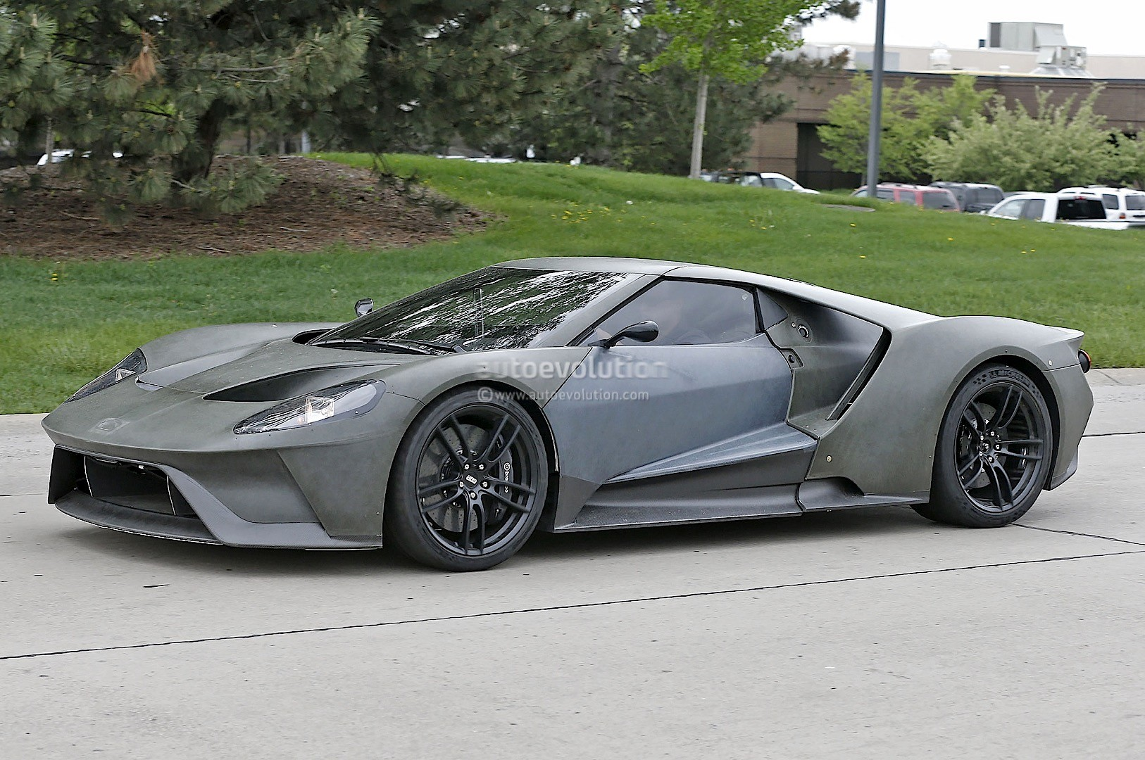 2017 ford gt test mule spied looks apocalyptic sans paint. Black Bedroom Furniture Sets. Home Design Ideas