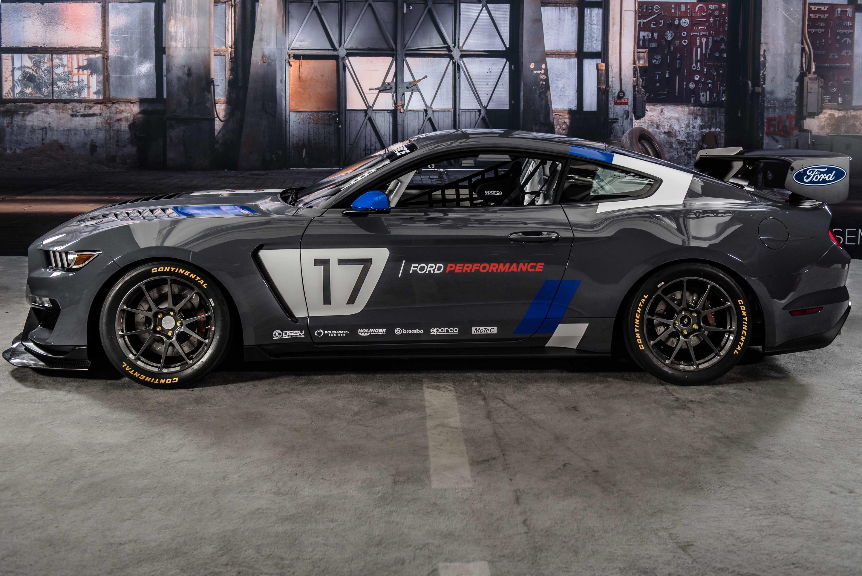2017 Ford Mustang GT4 Turnkey Racecar Has Cross-Plane ...