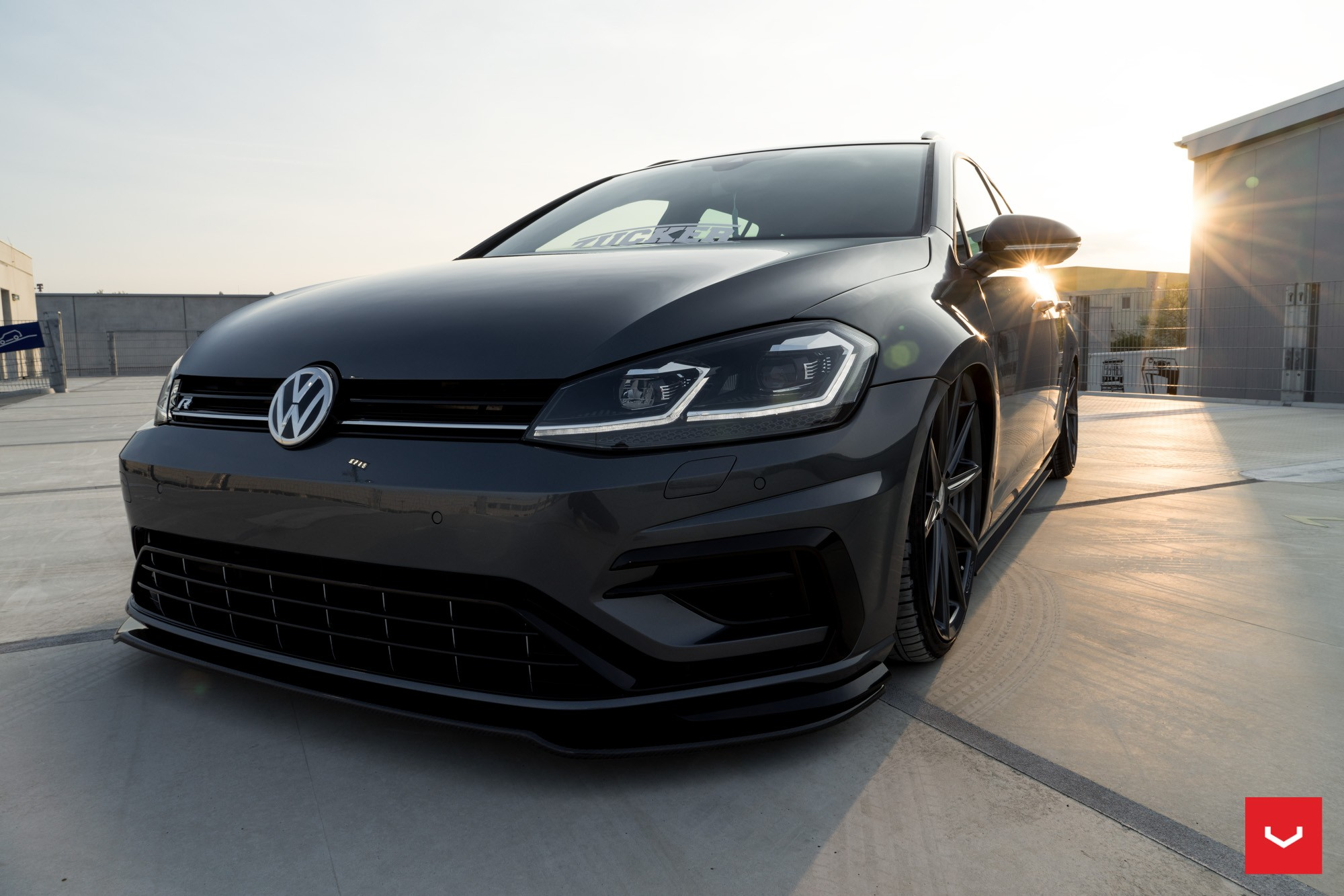 2017 golf r variant gets stanced on vossen wheels for tuning debut autoevolution. Black Bedroom Furniture Sets. Home Design Ideas