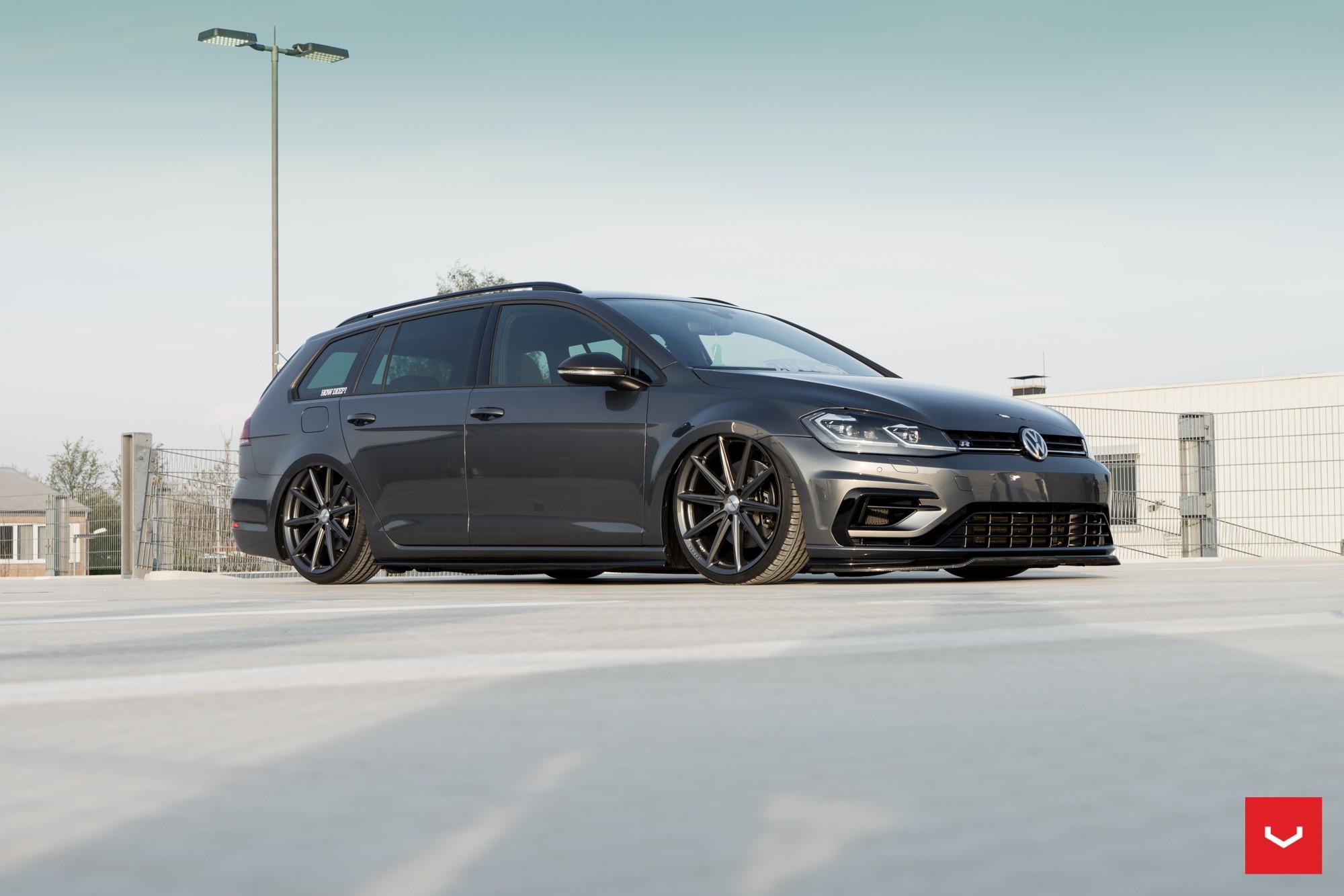 2017 golf r variant gets stanced on vossen wheels for. Black Bedroom Furniture Sets. Home Design Ideas