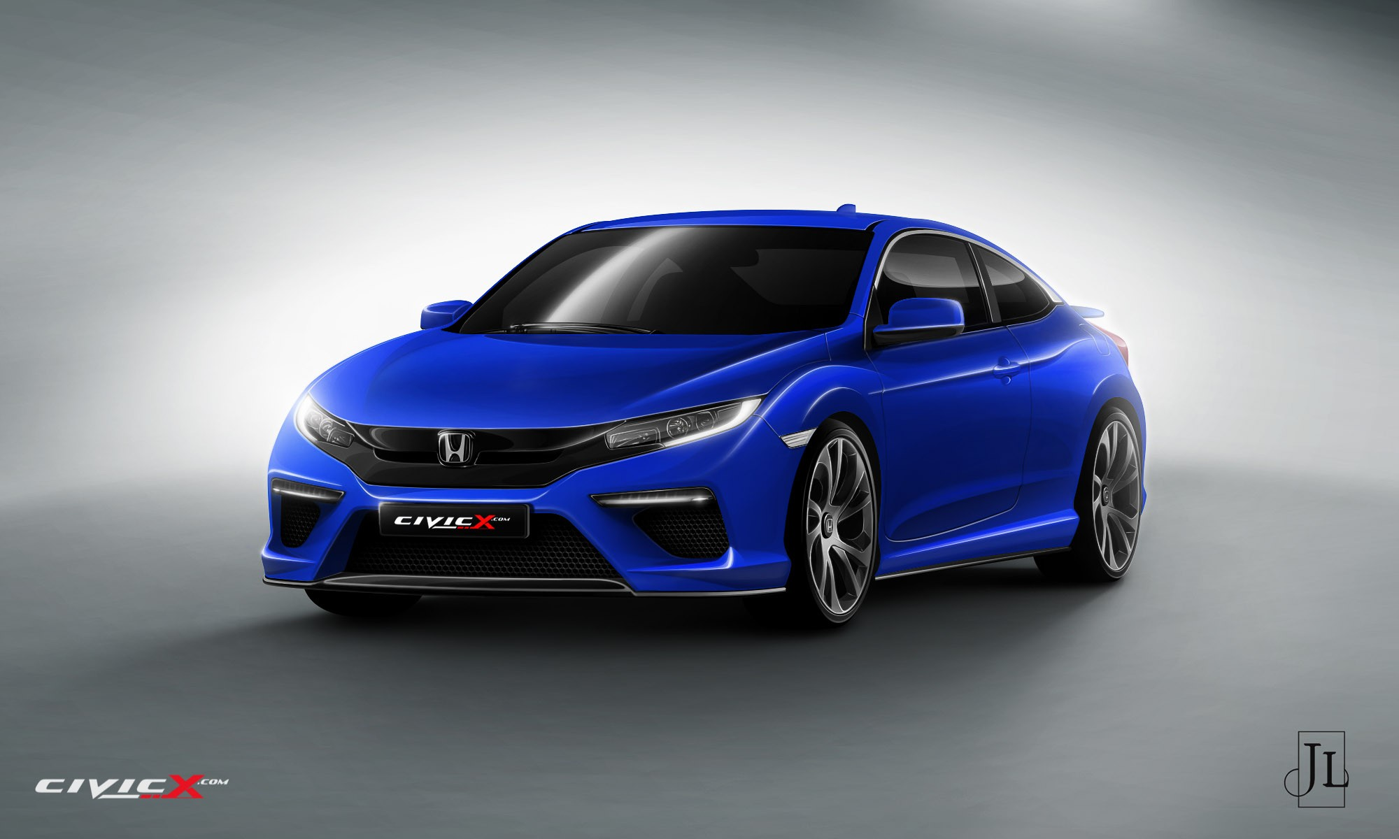 2017 Honda Civic Coupe Rendered In Vanilla And Super Hot Type R Flavors