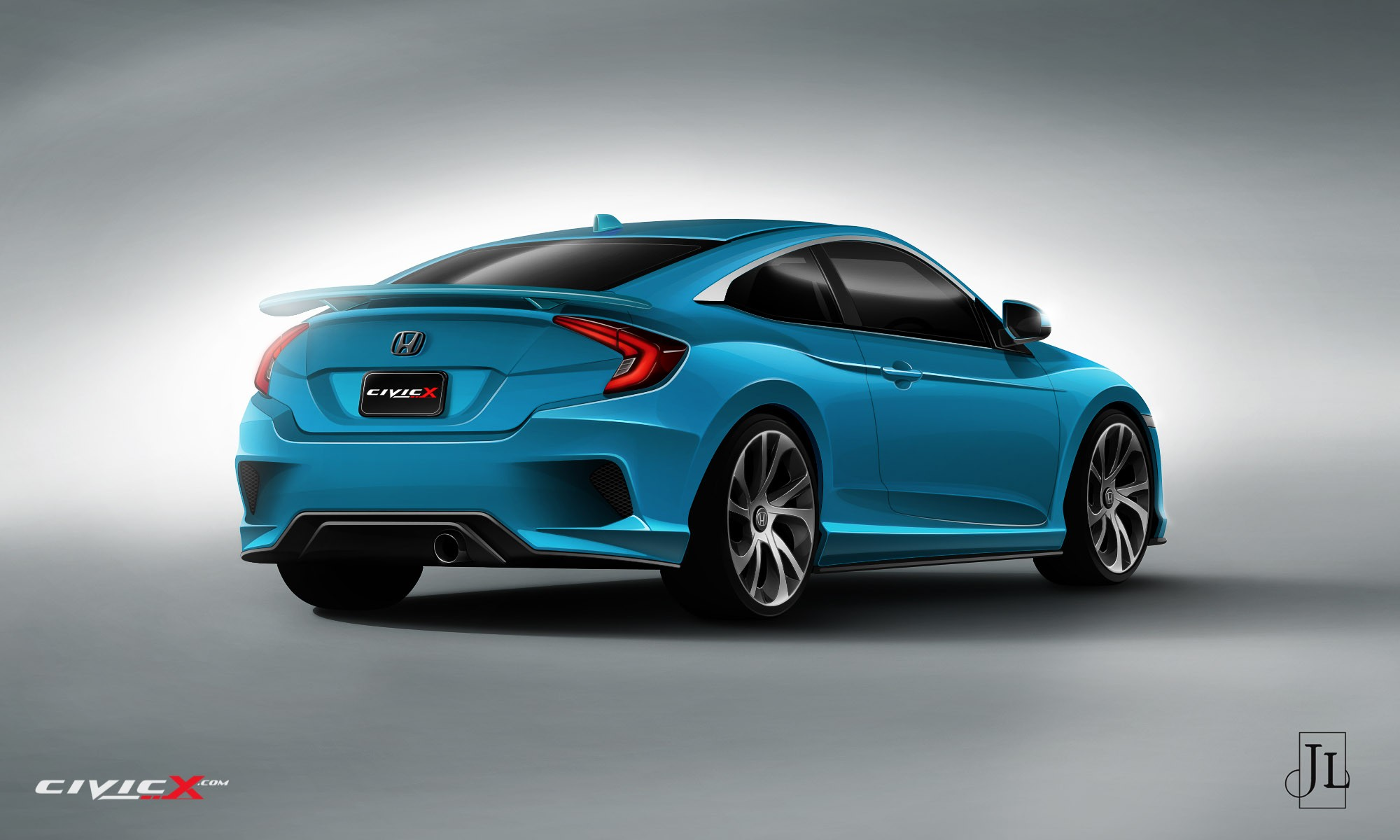 2017 Honda Civic Coupe Rendered in Vanilla and Super-Hot ...