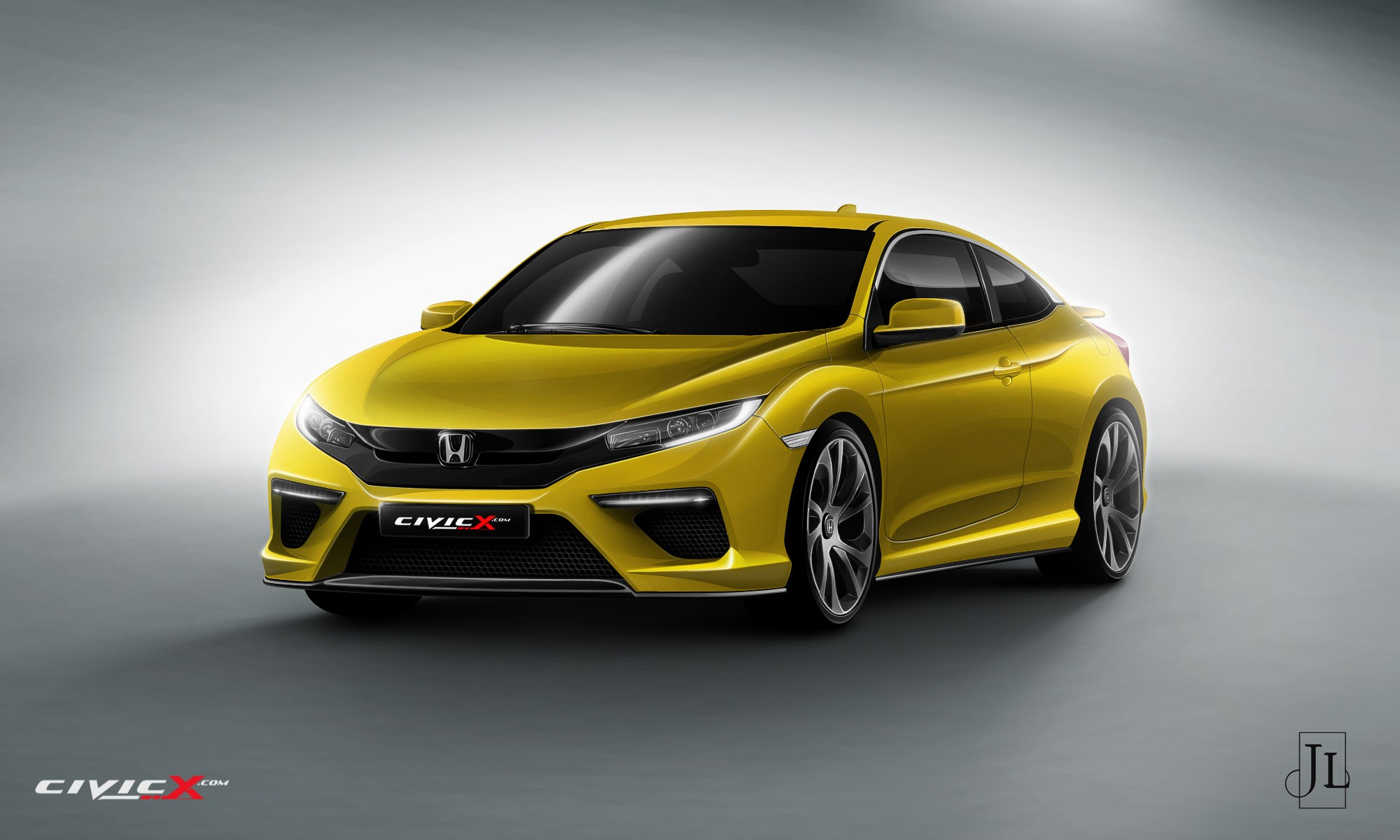 2017 honda civic coupe rendered in vanilla and super hot type r flavors autoevolution