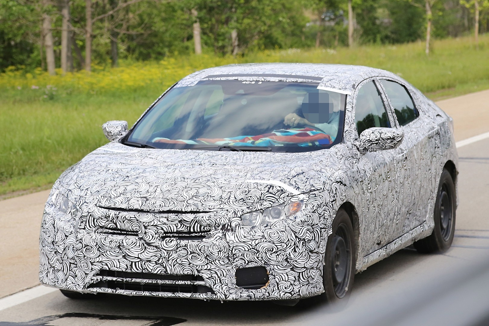 2017 Honda Civic Exposes Interior Styling And 4 Door Coupe