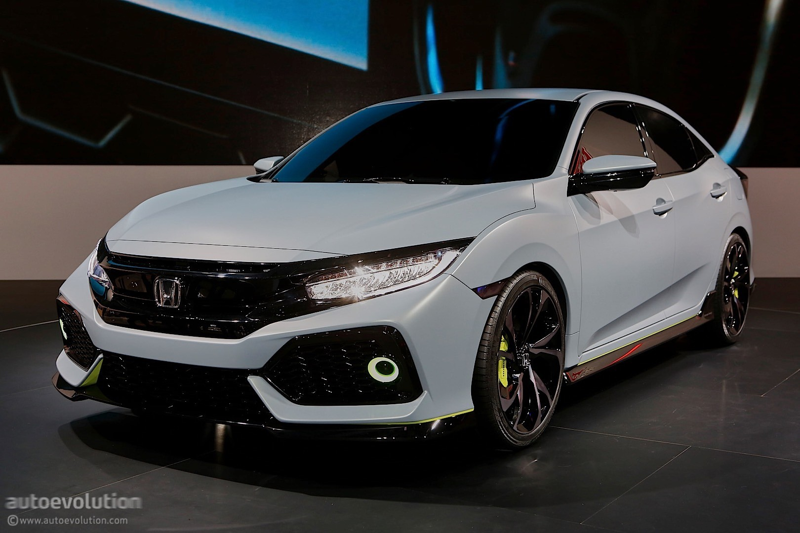 Honda Civic Two Door >> 2017 Honda Civic Hatchback Previewed by Concept in Geneva - autoevolution