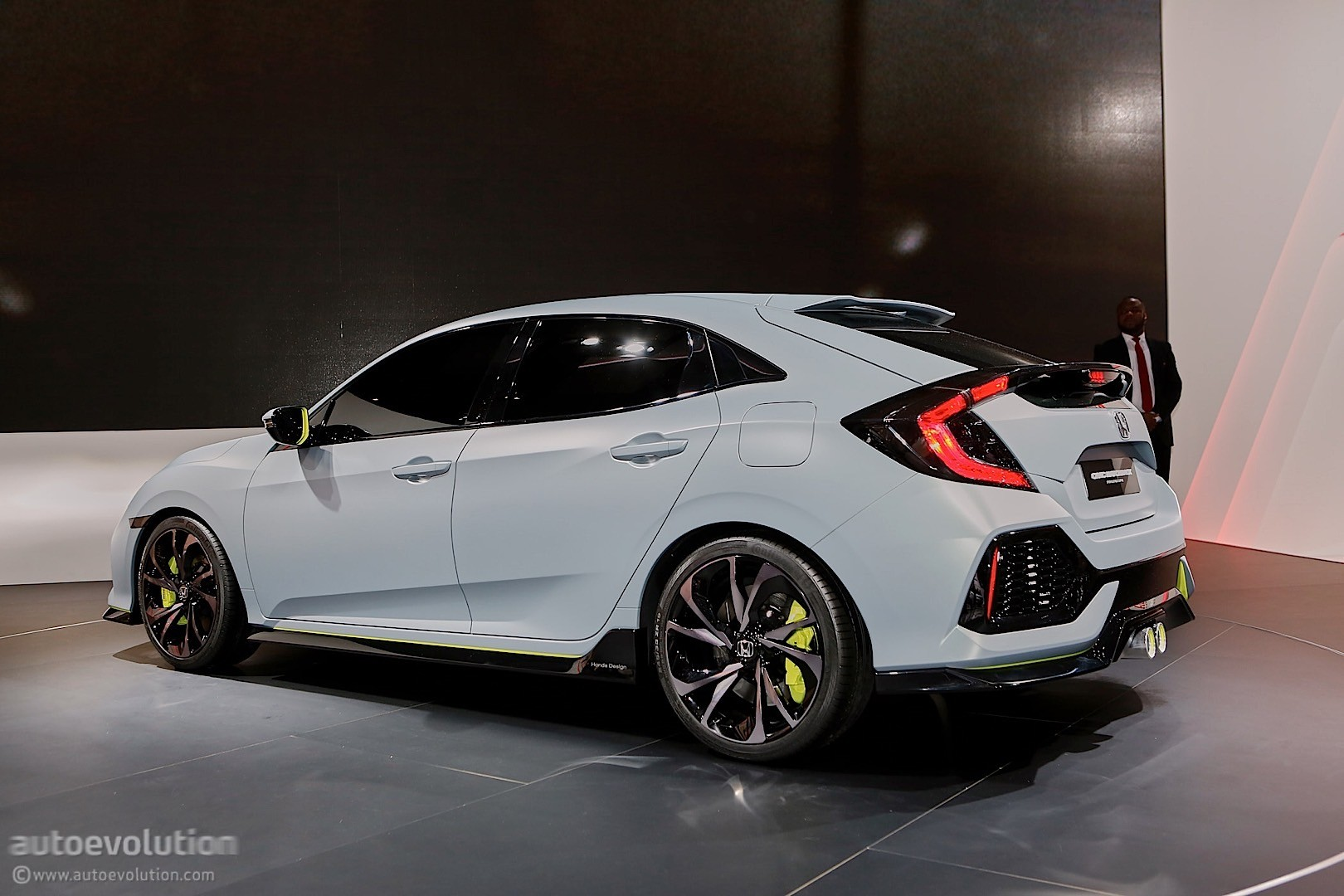 2017 honda civic hatchback previewed by concept in geneva   autoevolution
