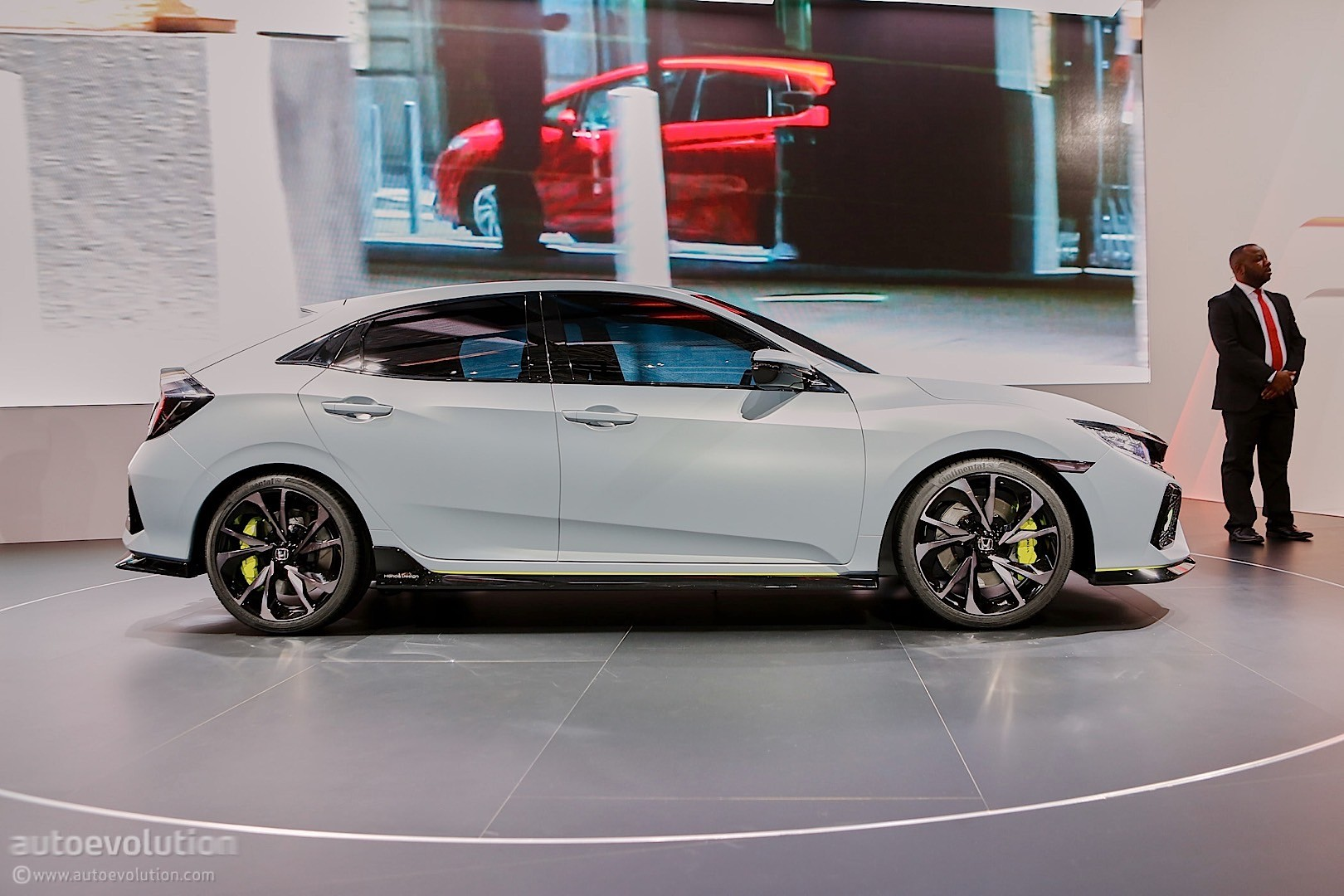 2017 Honda Civic Hatchback Previewed by Concept in Geneva - autoevolution