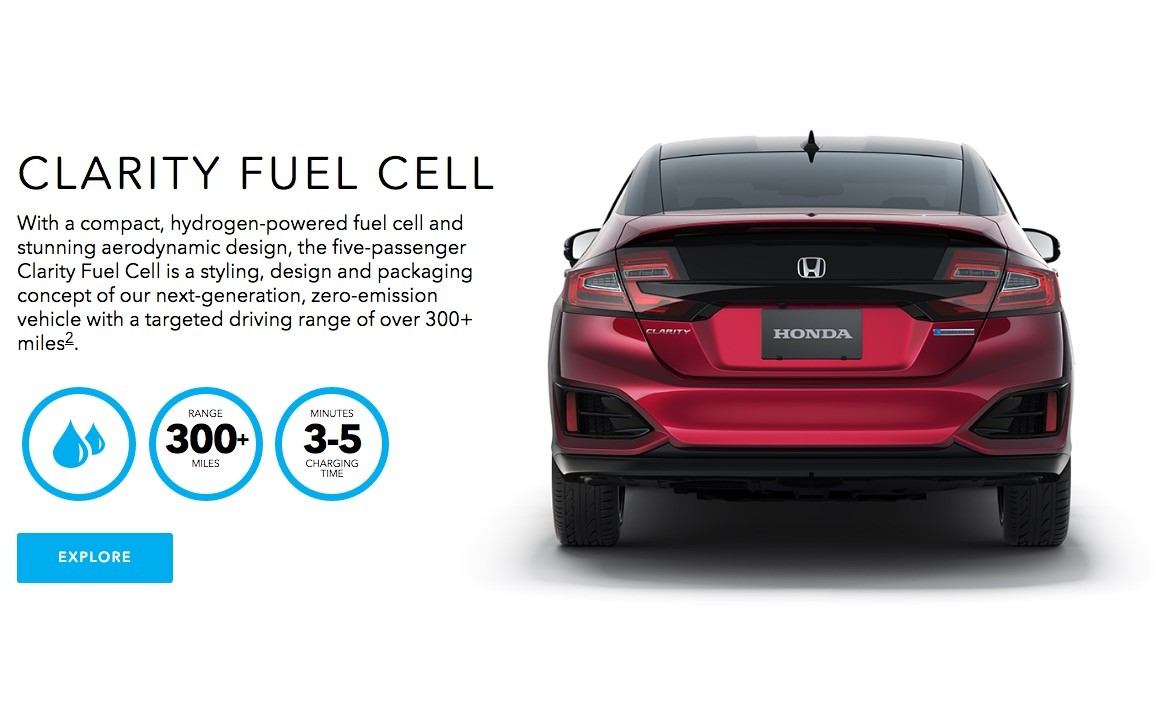 Electric Car Comparison >> 2017 Honda Clarity Fuel Cell Boasts the Longest Range In the Biz: 366 Miles - autoevolution