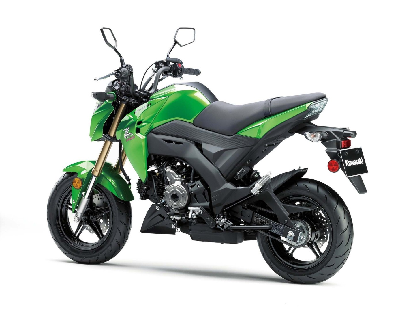 2017 kawasaki z125 pro is the authentic honda grom rival autoevolution. Black Bedroom Furniture Sets. Home Design Ideas