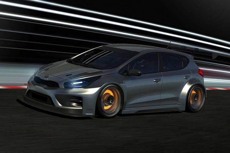 2017 kia cee 39 d tcr race car teased autoevolution. Black Bedroom Furniture Sets. Home Design Ideas