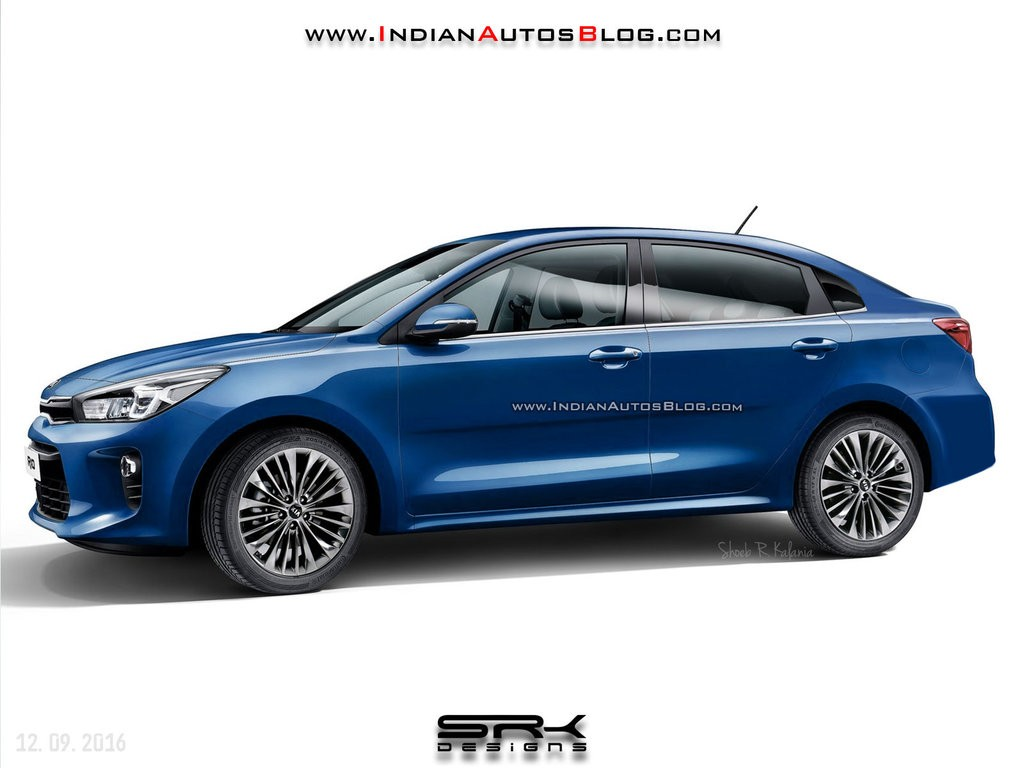 2017 kia rio sedan rendered has been spied testing in korea autoevolution. Black Bedroom Furniture Sets. Home Design Ideas