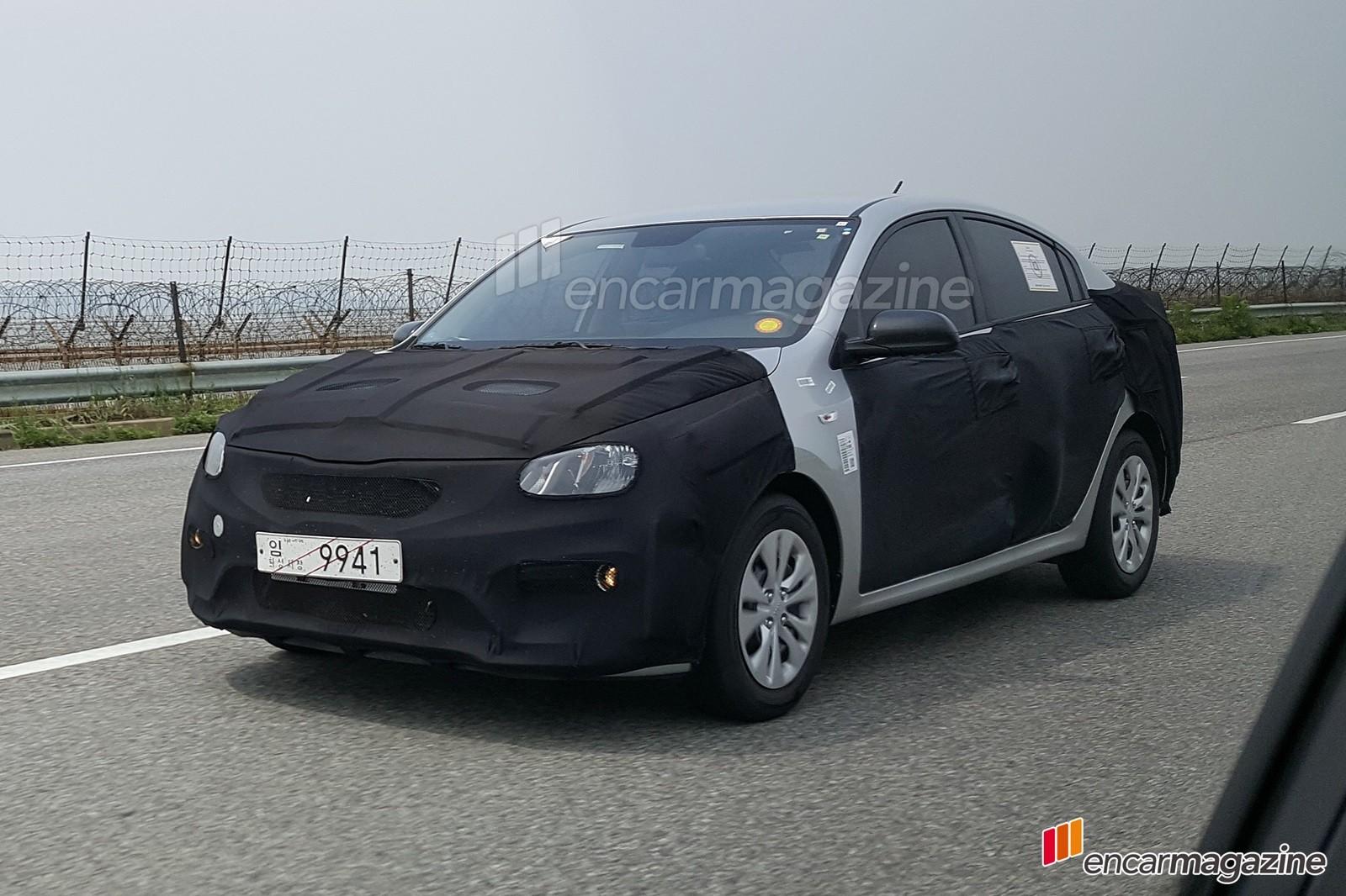 2017 Kia Rio Sedan Rendered, Has Been Spied Testing in Korea