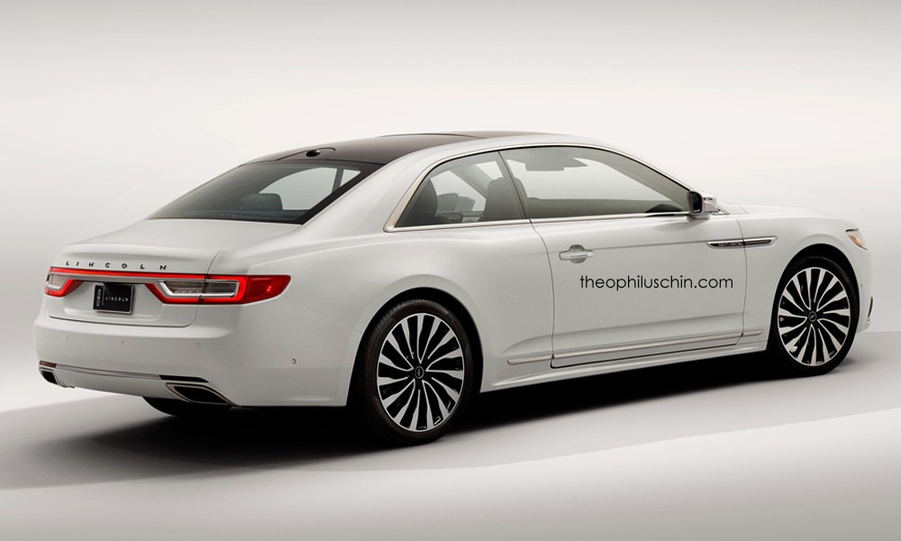2017 Lincoln Continental Coupe Rendering Rear
