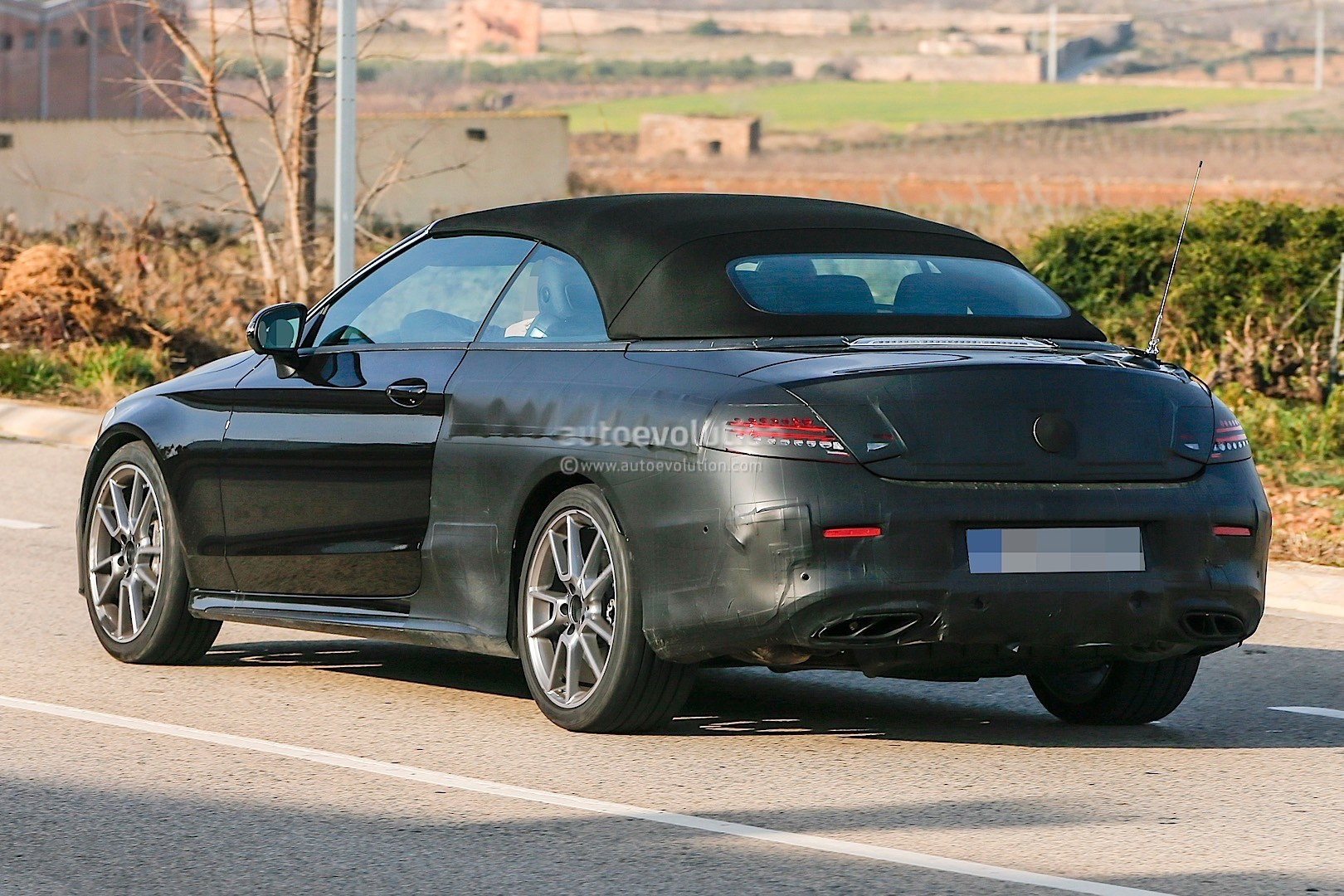 2017 mercedes amg c43 cabriolet a205 spied autoevolution. Black Bedroom Furniture Sets. Home Design Ideas