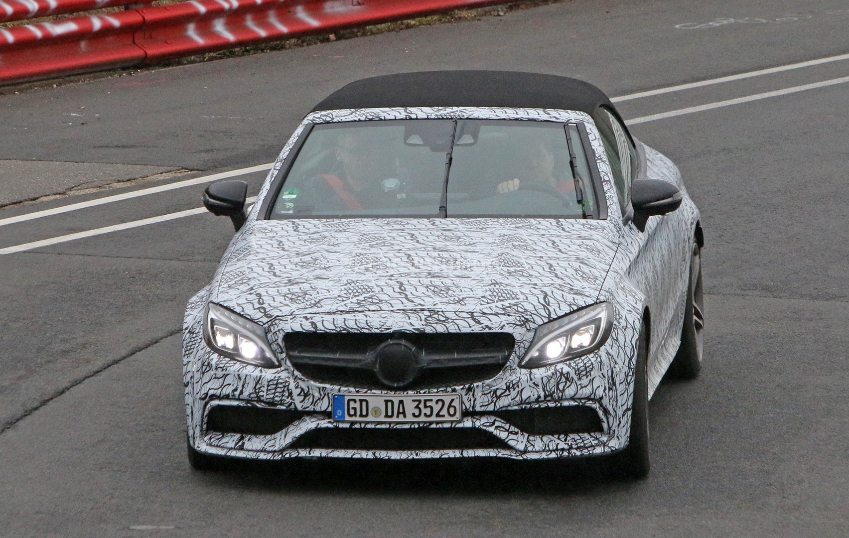2017 mercedes amg c63 cabriolet tests at the nurburgring. Black Bedroom Furniture Sets. Home Design Ideas