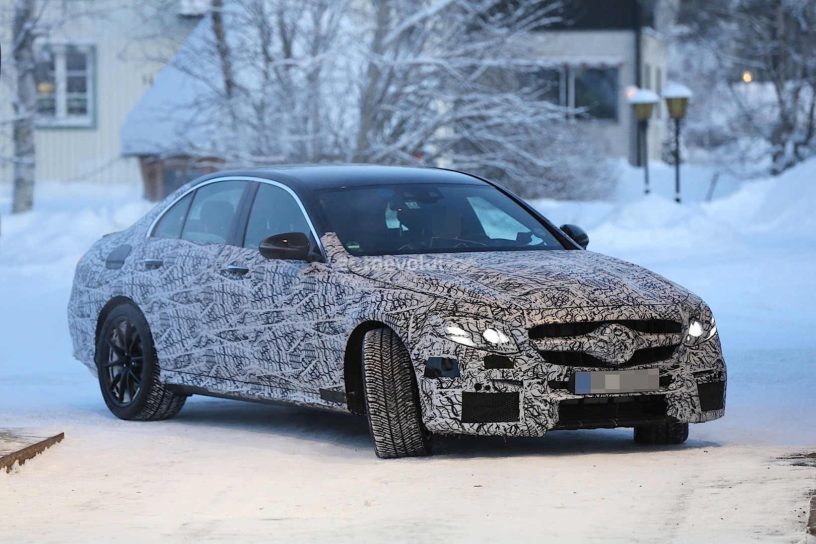 2017 mercedes amg e63 spied melting snow near the arctic. Black Bedroom Furniture Sets. Home Design Ideas