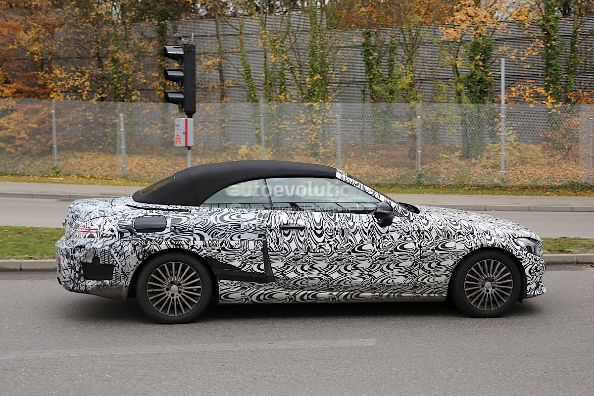 2017 Mercedes Benz C Class Cabriolet A205 Leaves Roof Camouflage