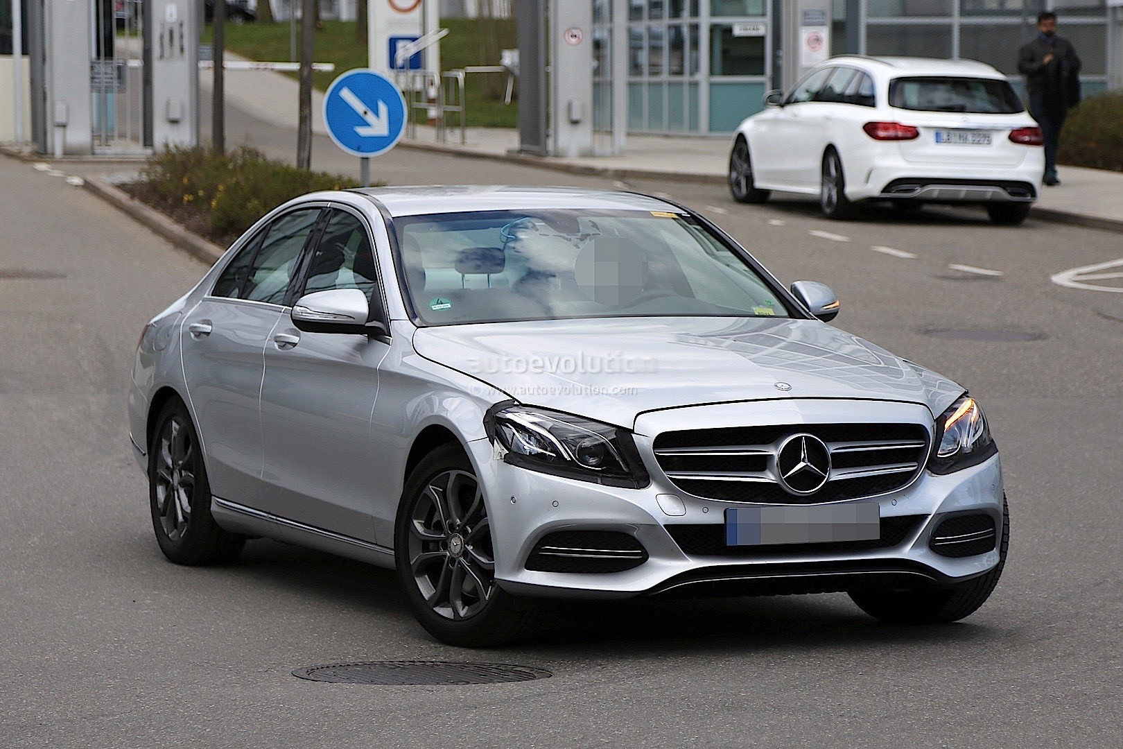 2017 mercedes benz c class facelift spied in germany. Cars Review. Best American Auto & Cars Review