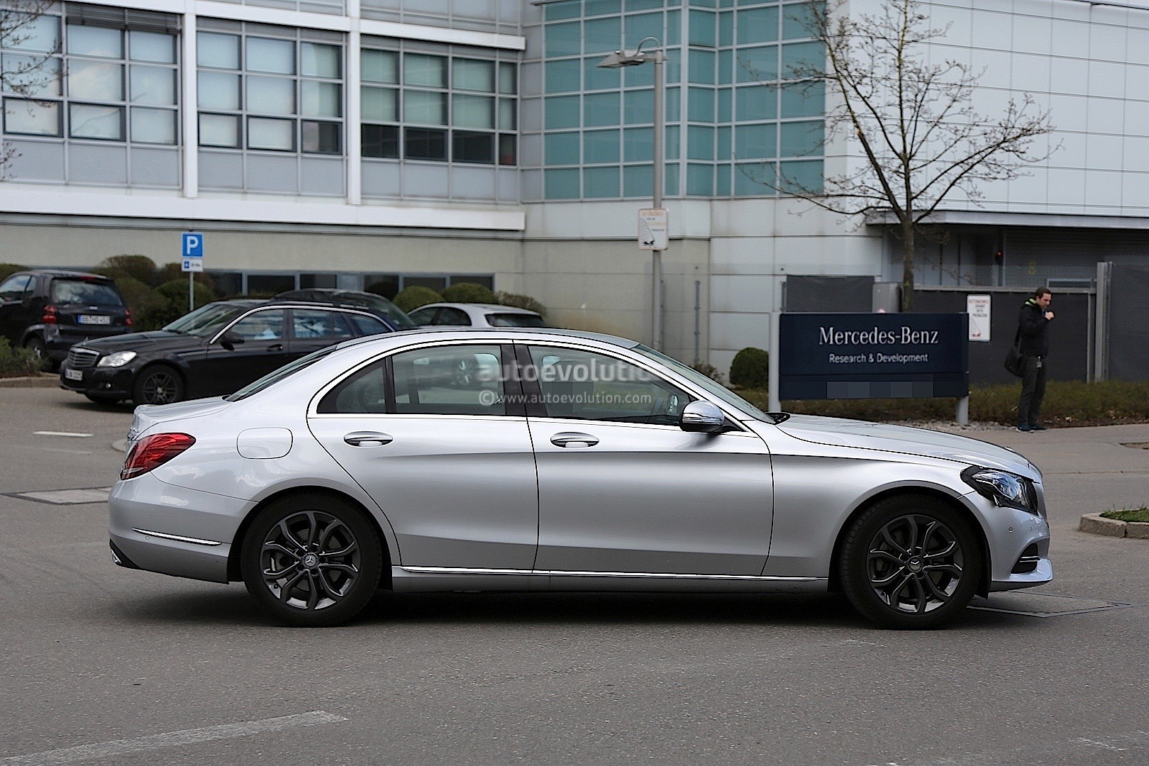 2017 mercedes benz c class facelift spied in germany autoevolution. Black Bedroom Furniture Sets. Home Design Ideas