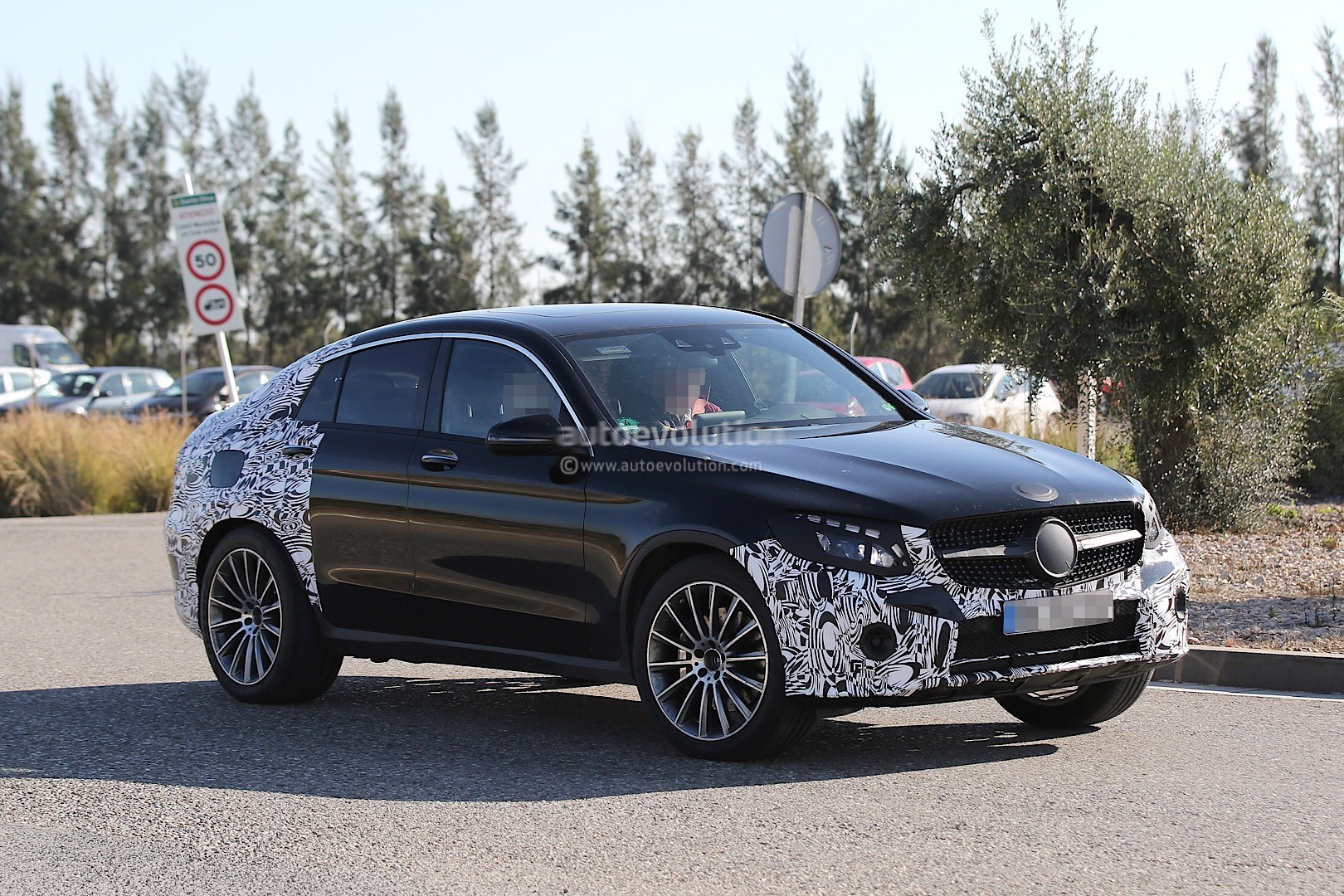 2017 Mercedes-Benz GLC450 AMG Coupe Spied for the First Time