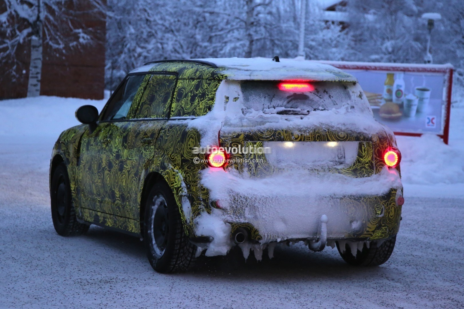 2017 MINI Countryman Prototype Spied Playing in the Snow
