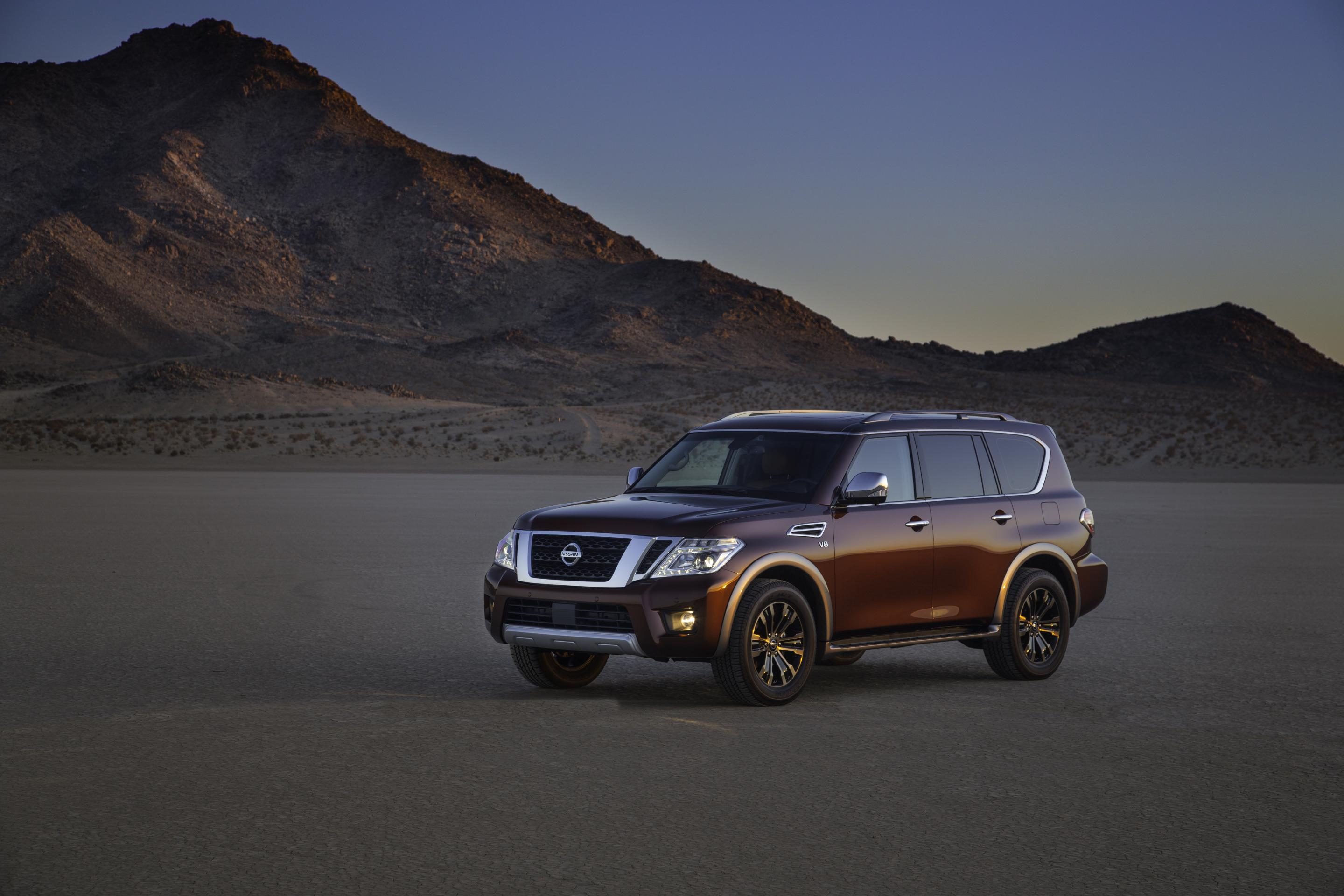 2017 nissan armada subjected to serious off road test. Black Bedroom Furniture Sets. Home Design Ideas