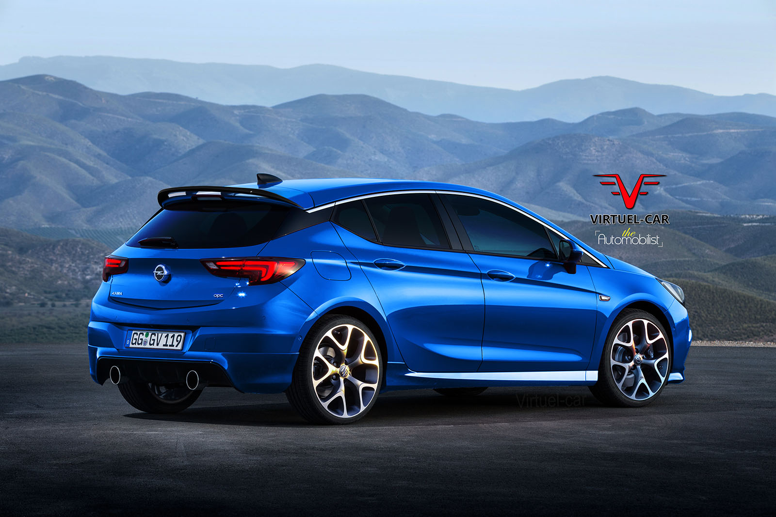 2017 opel astra opc gets rendered proves hot hatches are turning into posers autoevolution. Black Bedroom Furniture Sets. Home Design Ideas