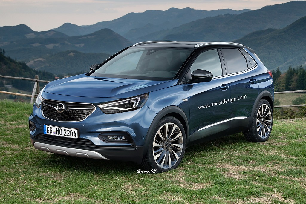 2017 opel grandland x rendering is a peugeot in disguise autoevolution. Black Bedroom Furniture Sets. Home Design Ideas