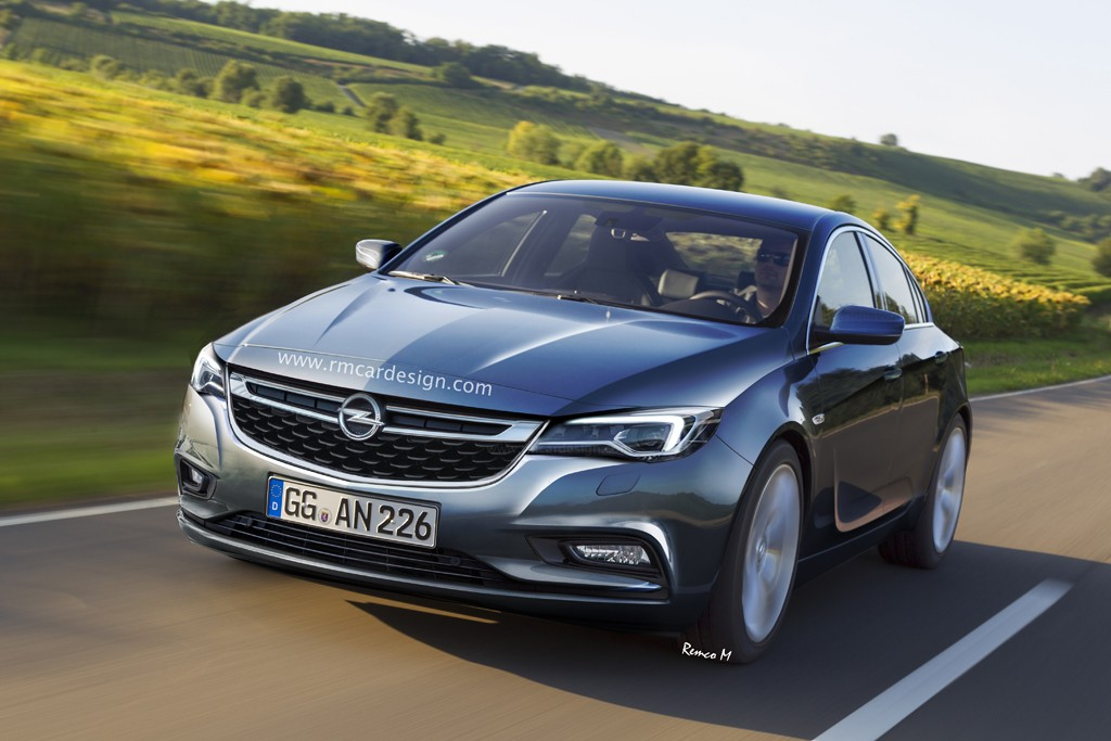 2017 opel insignia b looks like a premium sedan in the first renderings autoevolution. Black Bedroom Furniture Sets. Home Design Ideas