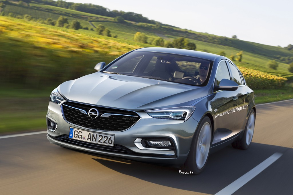 2017 Opel Insignia B Rendered Based on Latest Buick Design - autoevolution