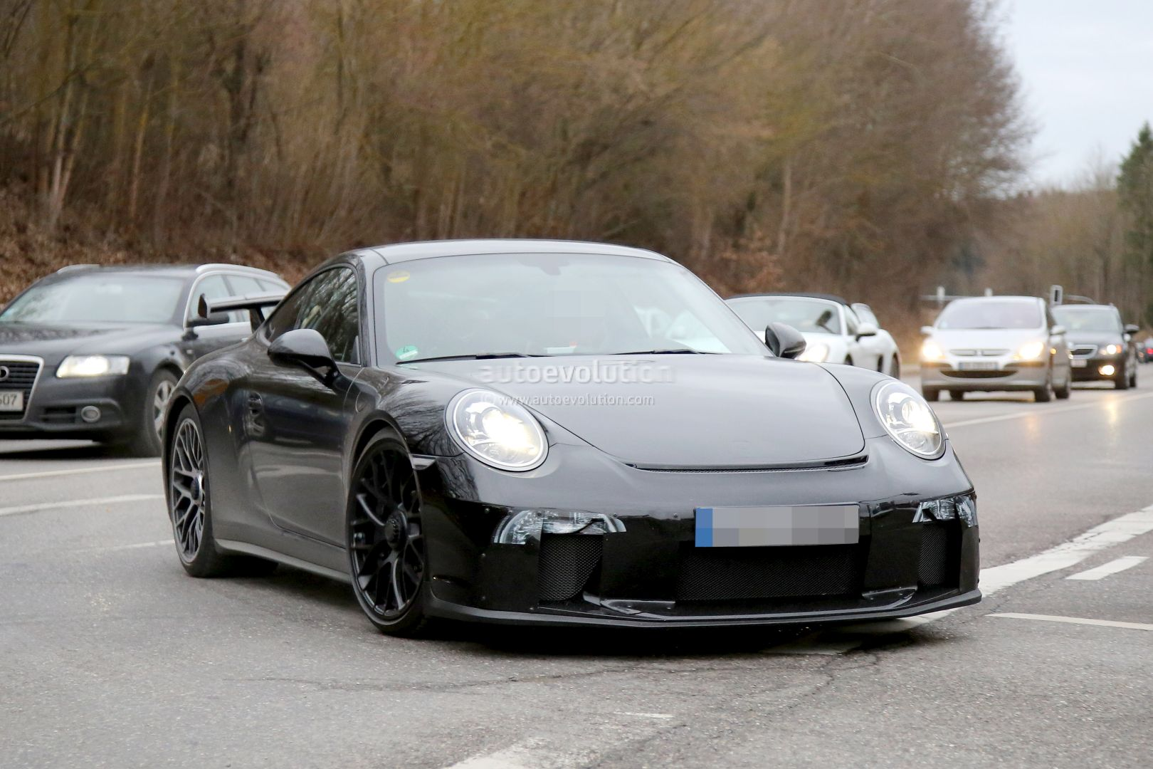 2017 Porsche 911 GT3 Facelift Spied with a Nose Job, Should Come Later ...
