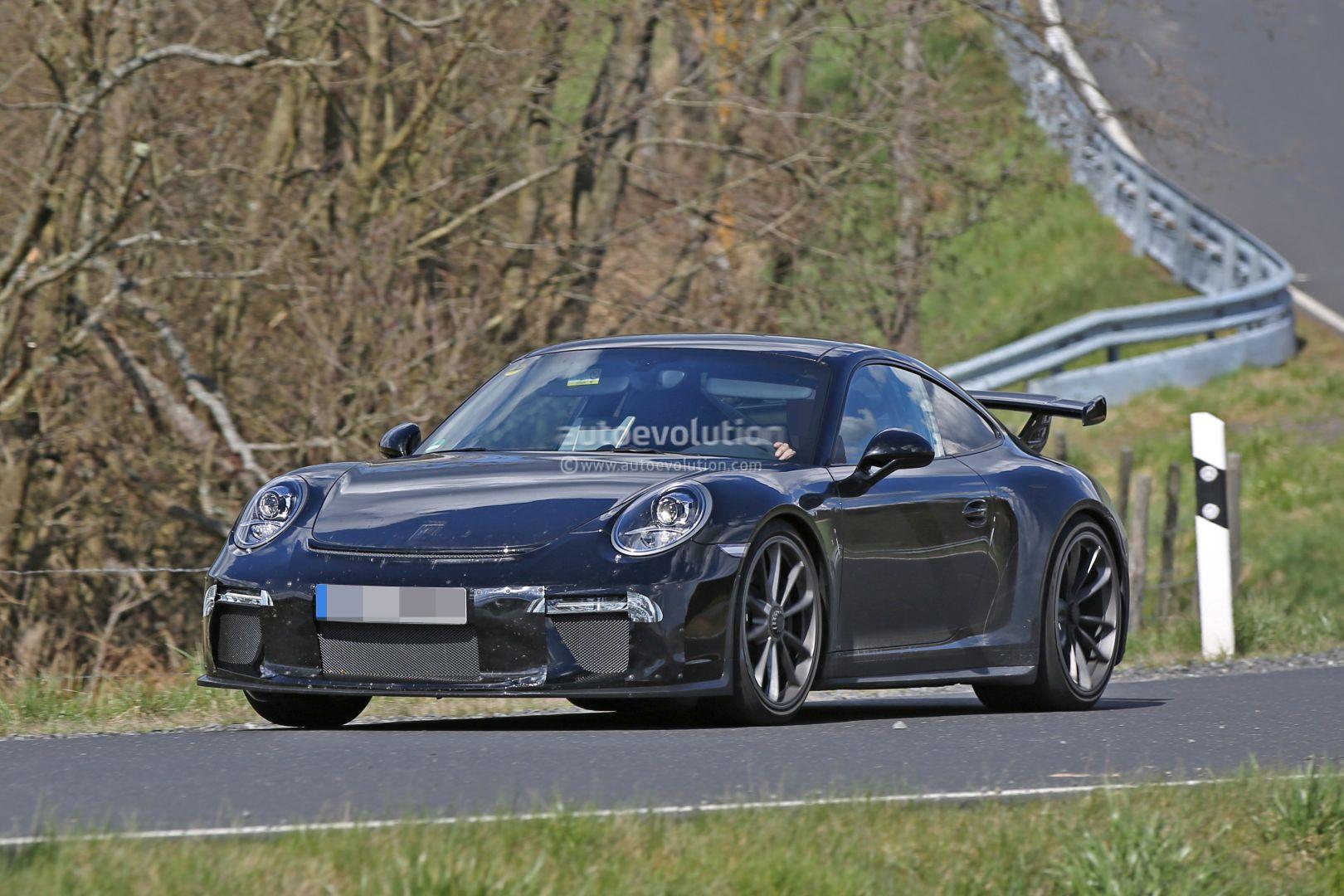 2017 Porsche 911 GT3 Spied on Nurburgring, to Get 911 R 6-Speed Manual ...