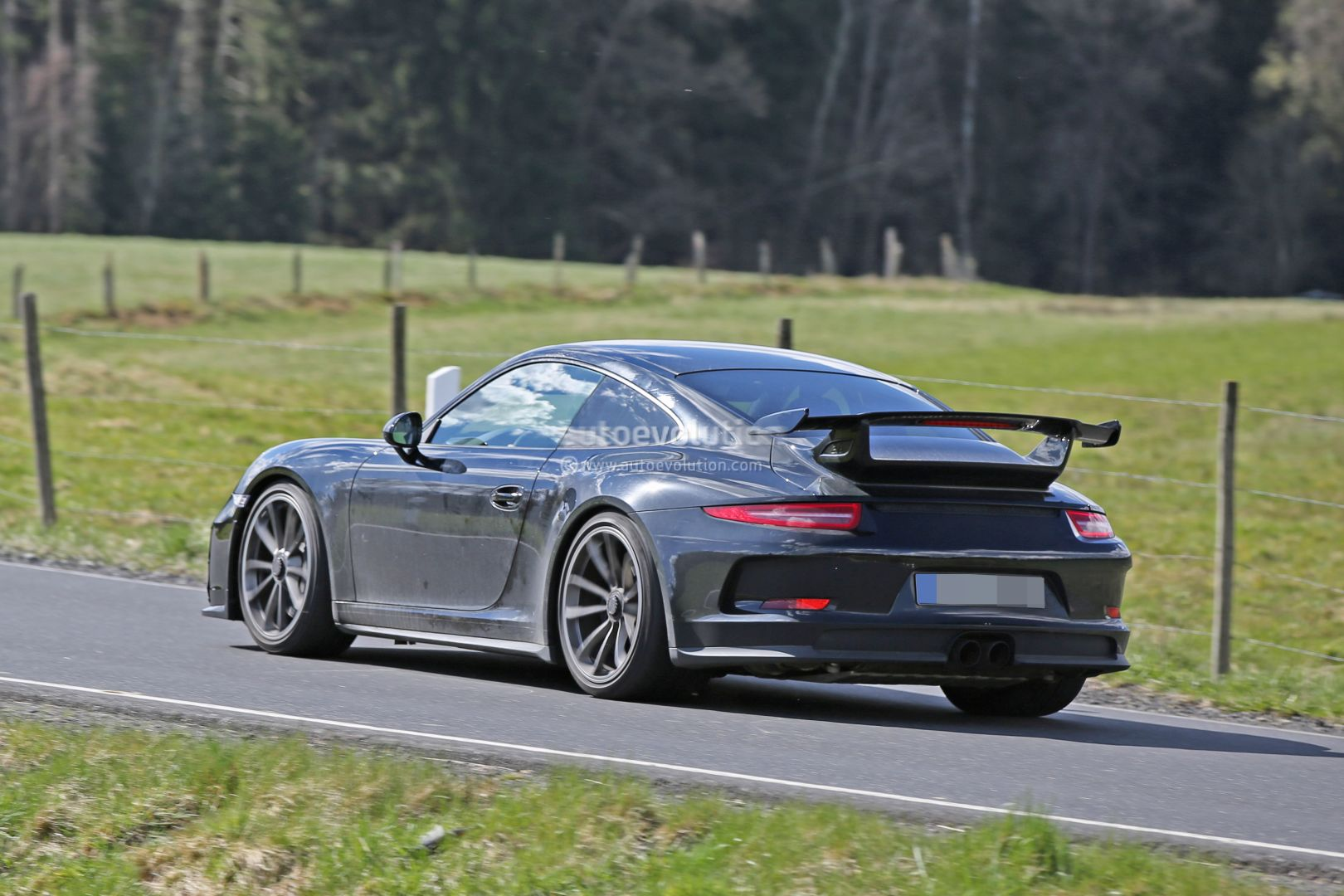 2017 porsche 911 gt3 spied on nurburgring to get 911 r 6 speed manual