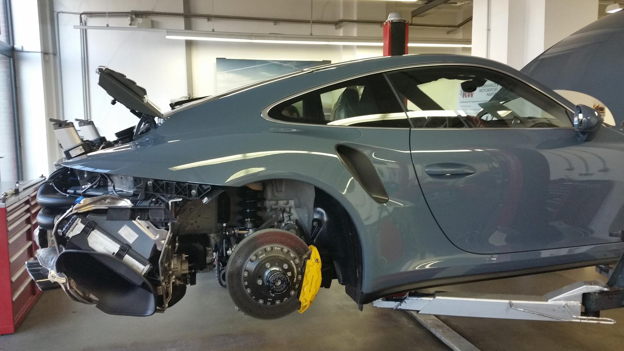 2017 porsche 911 turbo s loses bumpers in striptease, looks