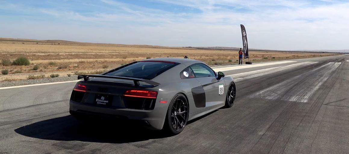 2017 Porsche 911 Turbo S Vs Audi R8 V10 Plus Drag Race Is