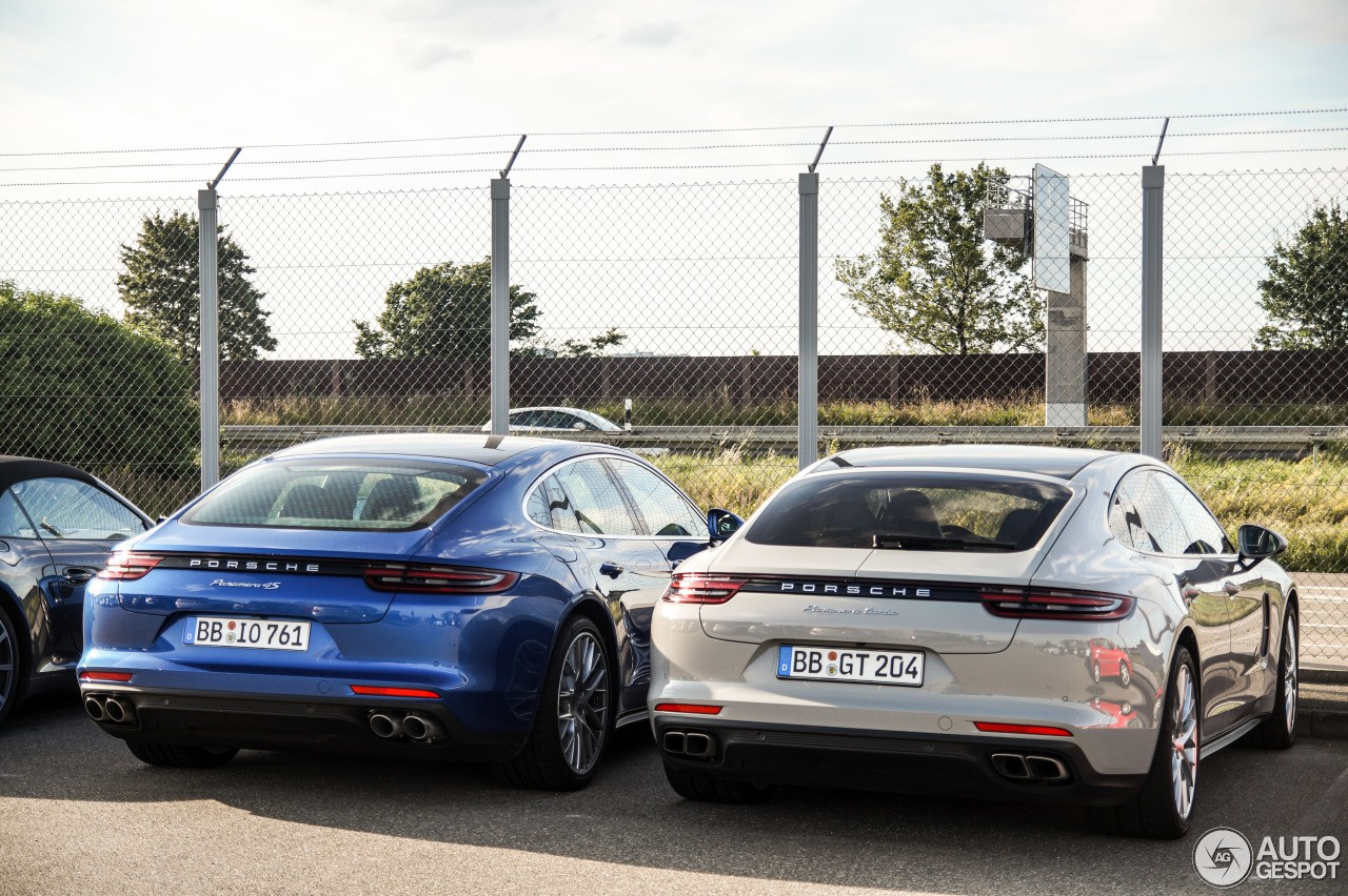 2017 porsche panamera turbo panamera 4s duo spotted in germany street comparo autoevolution