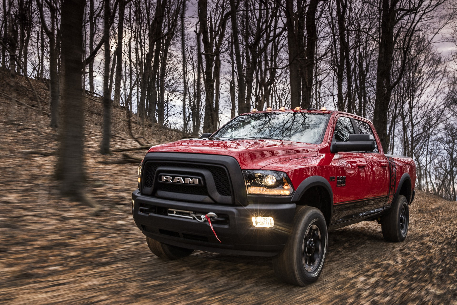 Ram Power Wagon Ditches Chrome Grille For Blacked Out Snout on Black Dodge Ram 2500