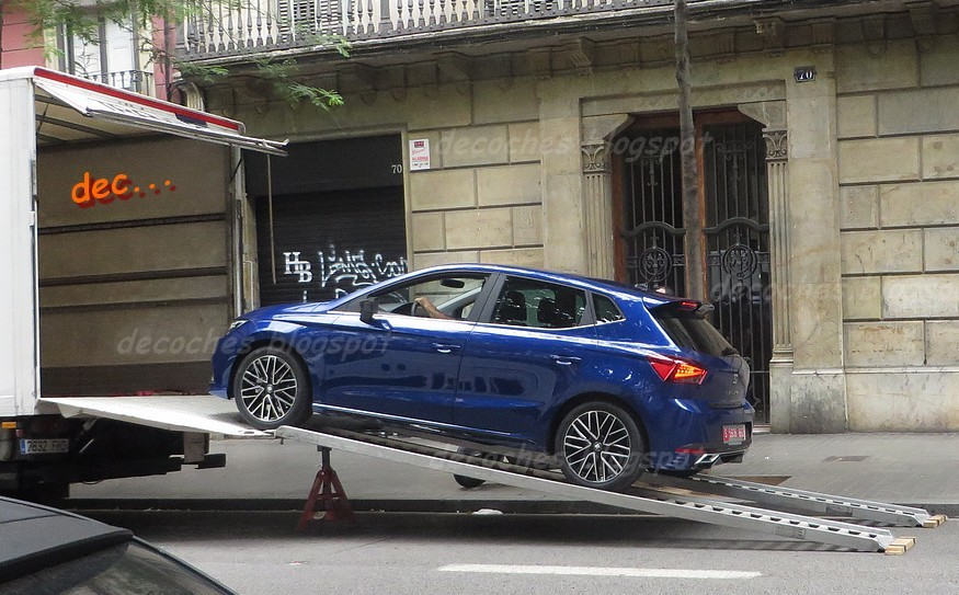 2017 seat ibiza spied with new body kit is probably not a cupra