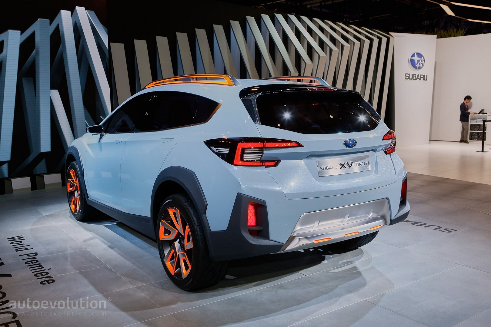 2017 subaru xv crosstrek previewed by this rugged concept in geneva autoevolution. Black Bedroom Furniture Sets. Home Design Ideas