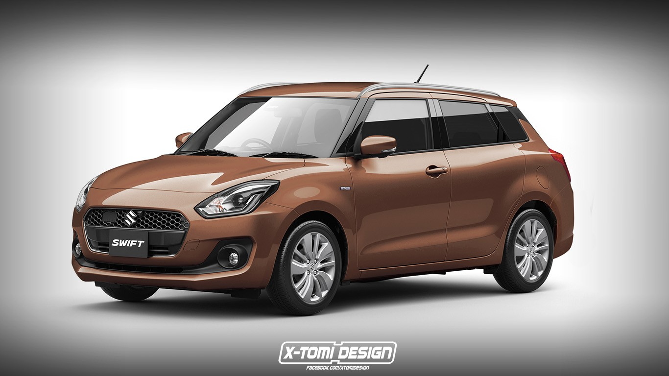 2017 Suzuki Swift Cross Wagon And Sedan Rendered