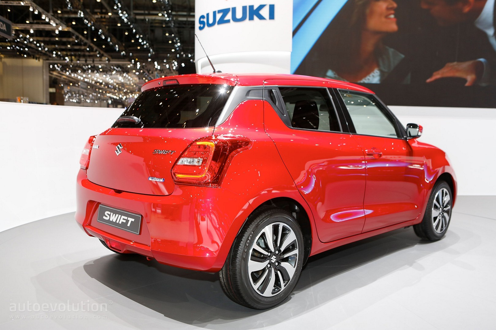 2017 suzuki swift makes european debut in geneva. Black Bedroom Furniture Sets. Home Design Ideas