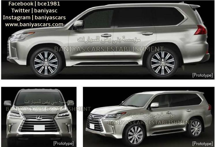 2017 toyota land cruiser and lexus lx facelift leaked in the middle east autoevolution