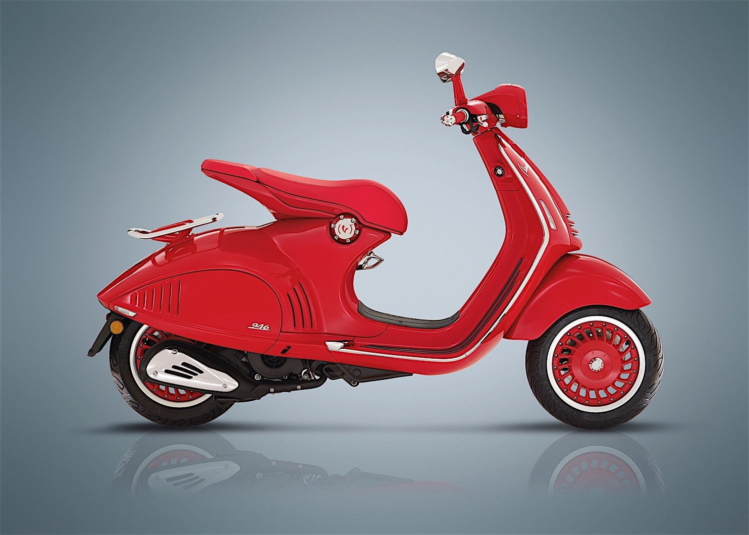 2017 Vespa Scooter Going Electric At Eicma Along Red
