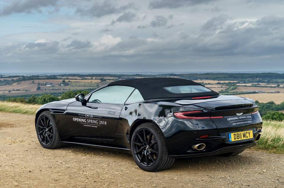 2018 Aston Martin Db11 Volante Spied Shows Modified Aeroblade