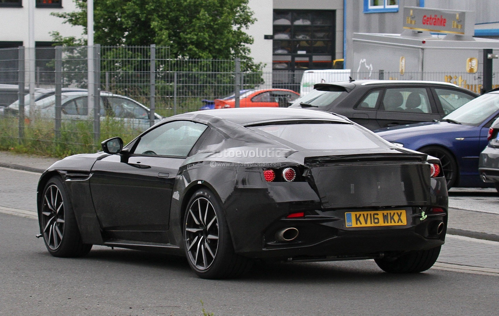 Aston Martin V Vantage Spied Has Mercedes Amg M Twin Turbo V on Aston Martin V12 Vantage S Revealed