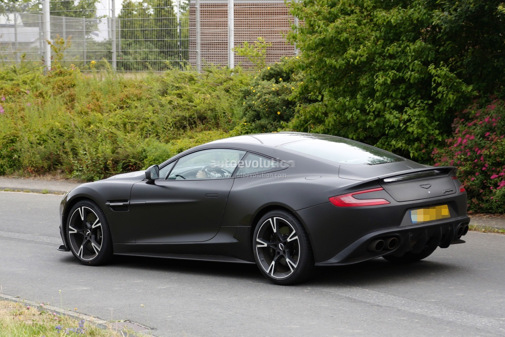 2018 aston martin vanquish s spied for the first time