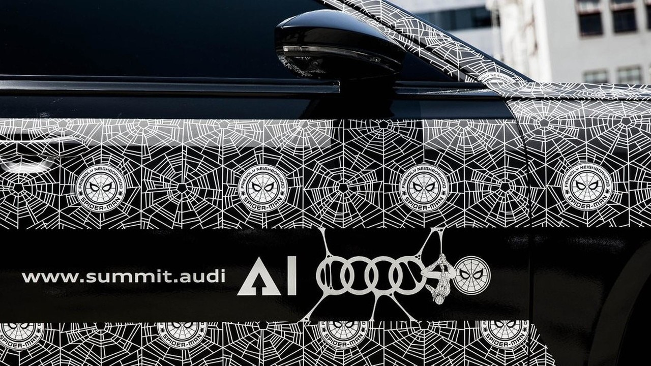 2018 audi a8 shown at spider man homecoming premiere has spidey wrap