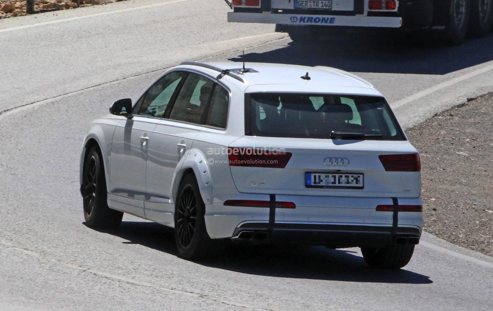2018 Audi Q8 Test Mule Spied Wearing Q7 Bodyshell Autoevolution