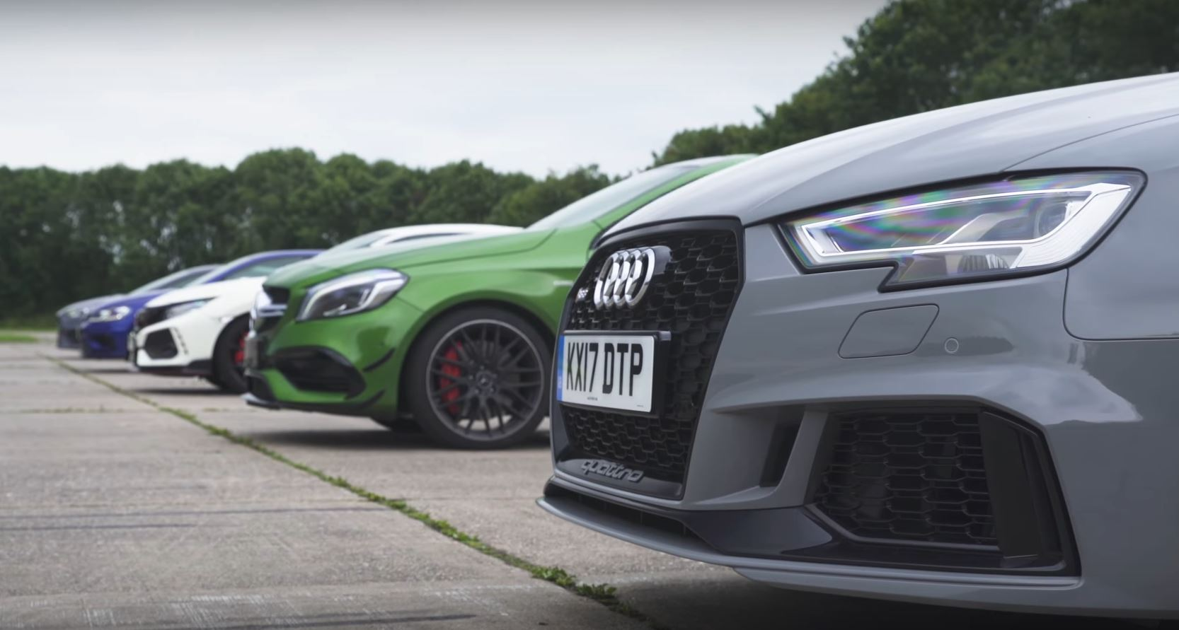 Audi Driving Experience >> 2018 Audi RS3 Drag Races A45 AMG, New Civic Type R, Focus RS and Golf R - autoevolution